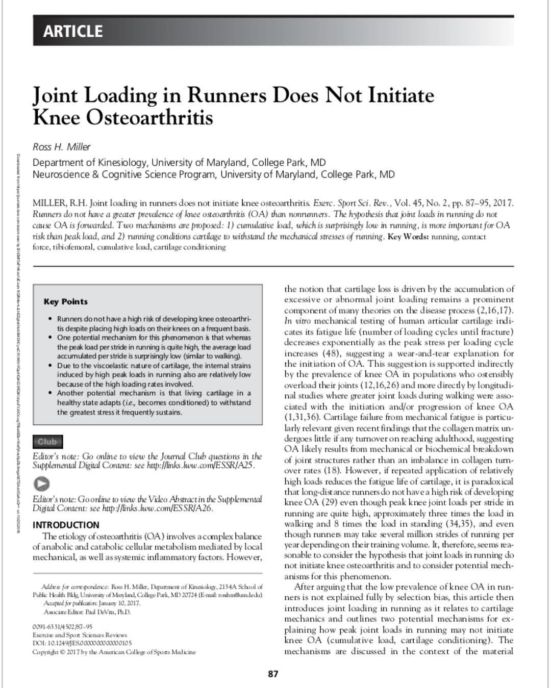 Thoughts on Joint Loading